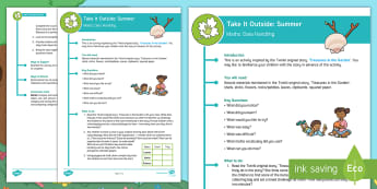 KS1  Take It Outside: Summer Maths Data Handling Activity - outdoor learning, forest school, nature detectives, treasures in the garden