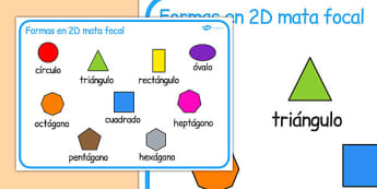 2D Shape Word Mat Spanish - spanish, 2d shape, word mat, word, mat, 2d, shape, maths, numeracy