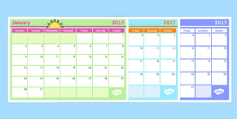 Monthly Calendar Planning Template 2017 - australia, monthly, calendar, planning, template, 2016