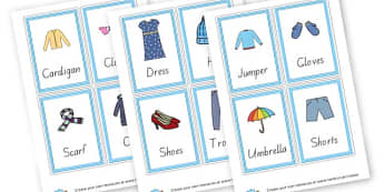 Clothes - Clothes Keywords Primary Resources, letters, phonics, sounds