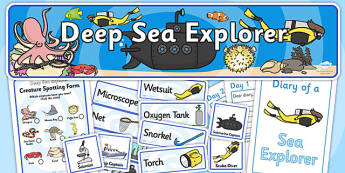 Deep Sea Explorer Role Play Pack-deep sea explorer, deep sea, role play, role play pack, explorer pack, deep sea explorer role play, games