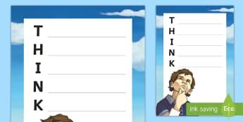 Think Acrostic Poem - Classroom Management and Organization, think, acrostic poem, language arts, writing, vocabulary, poe