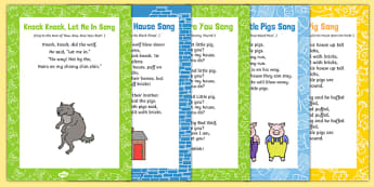The Three Little Pigs Songs and Rhymes Resource Pack