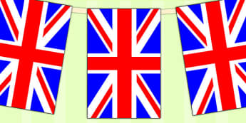United Kingdom Flag Display Bunting - geography, commonwealth