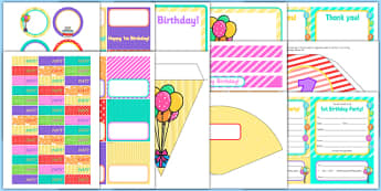 1st Birthday Party Pack - 1st birthday party, 1st birthday, party, pack