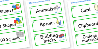 Emerald Themed Editable Classroom Resource Labels - Themed Label template, Resource Label, Name Labels, Editable Labels, Drawer Labels, KS1 Labels, Foundation Labels, Foundation Stage Labels, Teaching Labels, Resource Labels, Tray Labels, Printable l