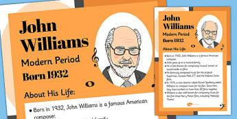 John Williams Display Poster - john williams, display, poster