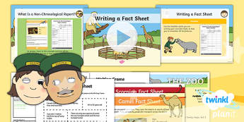 PlanIt Y1 Animals: to Support Teaching on Dear Zoo Lesson Pack Non-Chronological Report (2) - Dear Zoo, animals, non-chronological report, fact sheet, information
