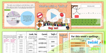 PlanIt Spelling Year 6 Term 2B W3: Words With a 'Soft c' Spelt 'ce' Spelling Pack - Spellings Year 6, spelling, weeks, weekly, assessment, SPaG, GPS, spell, lists, soft c, Y6