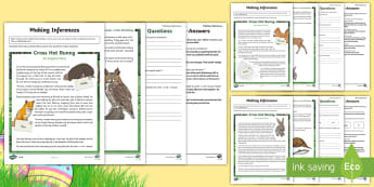 LKS2 Easter Tale Inference Activity Sheets - LKS2, Lower Key Stage Two, Lower Key Stage 2, Years 3 and 4,  Easter, story, tale, differentiated, D