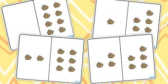 Brown Rabbit Counting Number Bonds to 8 - number, bonds, counting