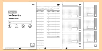 KS2 Editable Maths Arithmetic Assessment - ks2, editable, maths, assessment, arithmetic