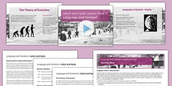 Jekyll and Hyde Lesson Pack 5: Language and Context (post reading) - jekyll, hyde