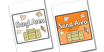 Sand Area Sign - sign, display sign, area display sign, area sign, area, sand area, sand sign, sand poster, sand area display sign, classroom areas, school areas, classroom area signs, topic signs, topic area signs