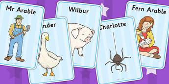 Charlotte's Web Display Posters - story books, poster, display
