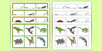 Realistic Dinosaurs SEN Matching Mat - dinosaur, SEN, matching