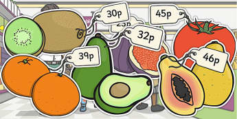 Priced Pieces of Fruit Mixed Up to 50p - fruit, price, mixed, 50p