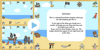 Pirate Themed Editabe PowerPoint Background Template - pirate, editable powerpoint, powerpoint, background template, themed powerpoint, editable