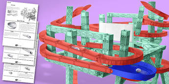Make a Marble Run Activity (Textured) - marble run, activity, make
