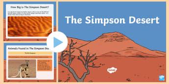 The Simpson Desert PowerPoint - Australia, Desert, The Simpson Desert, Australian Animals, desert, Aboriginal people, Aboriginals, i