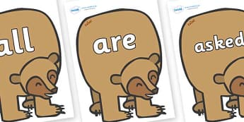 Tricky Words on Brown Bear to Support Teaching on Brown Bear, Brown Bear - Tricky words, DfES Letters and Sounds, Letters and sounds, display, words