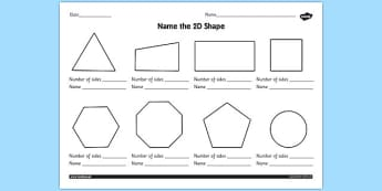 2D Shapes Worksheet - 2d shapes worksheet, ks1, 2d shape, 2d