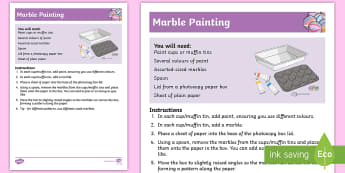 Marble Painting Recipe - marble, painting, easy, self-directed, eye-hand co-ordination, art, paint