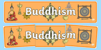 Buddhism Display Banner - Buddhism, religion, display, banner, poster, sign, cycle of rebirth, enlightenment, Karma, Nirvana, Rebirth