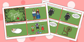 Sleeping Beauty Story Cards - sleeping beauty, story cards, sleeping beauty story, traditional tales, stories, traditional stories, story books, books