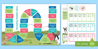 Rounding Rabbits Maths Board Game - KS2 Maths Working from home activity booklets, Year 5 maths, rounding, rounding to the nearest 10 00