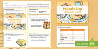 Year 3 Pancake Day Maths Challenge Cards -  Maths, Pancake Day, challenge, challenge cards, Pancake Day Maths, Year 3 number, Year 3 Maths, Yea
