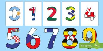 World Flag Display Numbers - World Flag Display Numbers - numbers,, displays, flags, poster, displaynumbers, display, glags, flag