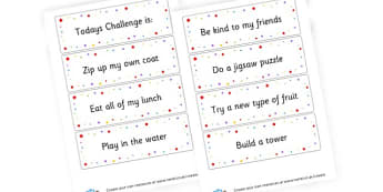 SEN Challenge Cards - Additional Needs (SEN) & PSHE Primary Resources, EAL, PSHE, autism