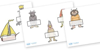 Self-Registration to Support Teaching on Where the Wild Things - Where the Wild Things Are, Maurice Sendak, Wild Things, resources, Max, wild rumpus, boat, wolf suit, dream, fantasy, story, story book, story book resources, story sequencing, story re