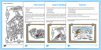 Canadian Aboriginal Art Information and  Colouring Pages