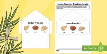 Lenten Promises Envelope Activity -  Lent, Lenten promise,Scottish, Easter,