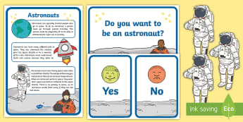 Astronaut Anchor Chart Card and Teaching Resource Pack - space, outer space, planets, astronaut, teaching resources, anchor chart cards