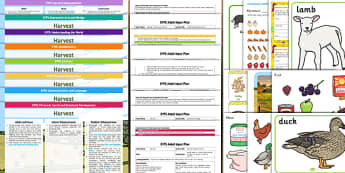 EYFS Harvest Lesson Plan Enhancement Ideas and Resources Pack - ideas, information early years, progress, improvement, learning, planning, resources,