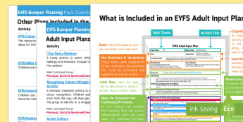 EYFS Colour Themed Bumper Planning Pack Overview - EYFS, Early Years planning, adult led, Colour, rainbow.