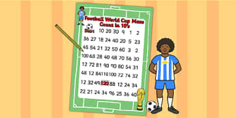 Football World Cup Counting in 10s Maze - football, numeracy