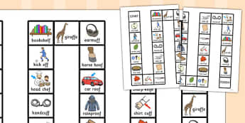 Two Syllable Final 'F' Sound Board Game - final f, sound, board