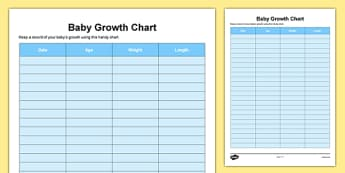 Baby Growth Chart - Baby, grow, growth, weight, length, growth chart