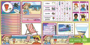 Siopa Cois Farraige Display Pack - Aistear, Infants, English Oral Language, School, The Garda Station, The Hairdressers, The Airport, T