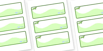 Iguana Themed Editable Drawer-Peg-Name Labels (Colourful) - Themed Classroom Label Templates, Resource Labels, Name Labels, Editable Labels, Drawer Labels, Coat Peg Labels, Peg Label, KS1 Labels, Foundation Labels, Foundation Stage Labels, Teaching L