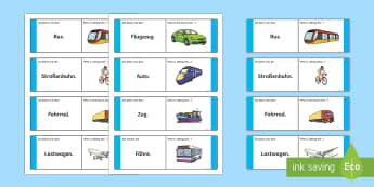 Transport and Travel Loop Cards German - Travel, Transport, German, MFL, languages, Germany, Public transport