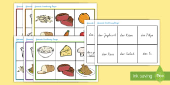 Gesunde Ernährung Bingo - Gesunde Ernährung Bingo, Bingo, Bingo Spiel, Lotto, Lotto Spiel, Gesunde Ernährung Spiel, Gesunde