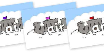 Phase 3 Phonemes on Castles - Phonemes, phoneme, Phase 3, Phase three, Foundation, Literacy, Letters and Sounds, DfES, display