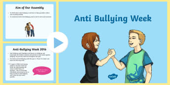 Anti-Bullying KS2 Assembly PowerPoint - bullying, anti bullying, citizenship, feeling good, what to do, bullied,