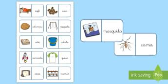 Dominos: La letra C y la letra Qu - lecto, leer, lectura, sonidos, letra , lecto-escritura, letra, fónemas, sonidos letra c, letra qu,S