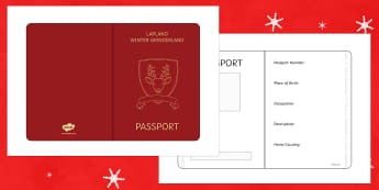 Mrs Claus Passport Writing Frame - M&S Christmas, Marks, Spencers, Advert, Mrs Christmas, Mrs Claus, character profile